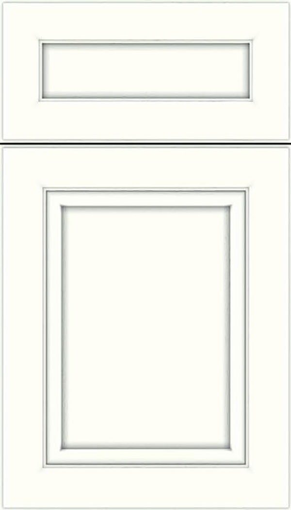 Paloma 5pc Maple flat panel cabinet door in Alabaster