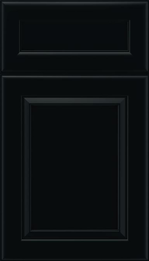 Paloma 5pc Maple flat panel cabinet door in Black