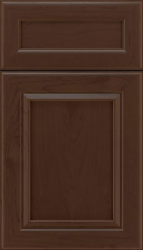 Paloma 5pc Maple flat panel cabinet door in Cappuccino