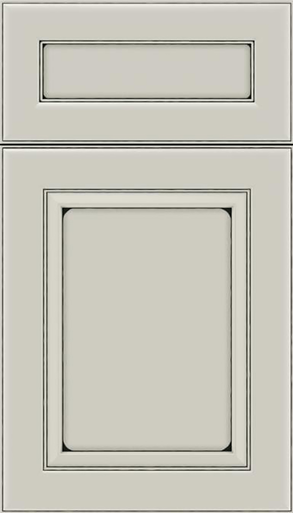 Paloma 5pc Maple flat panel cabinet door in Cirrus with Black glaze