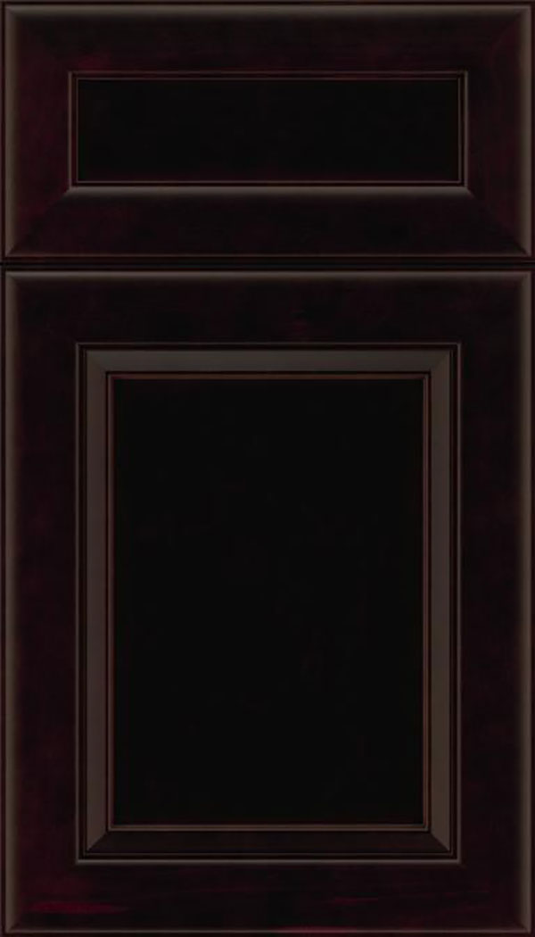 Paloma 5pc Maple flat panel cabinet door in Espresso