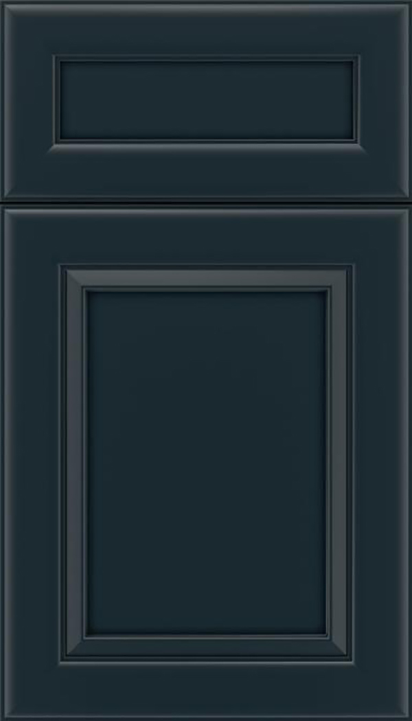 Paloma 5pc Maple flat panel cabinet door in Gunmetal Blue