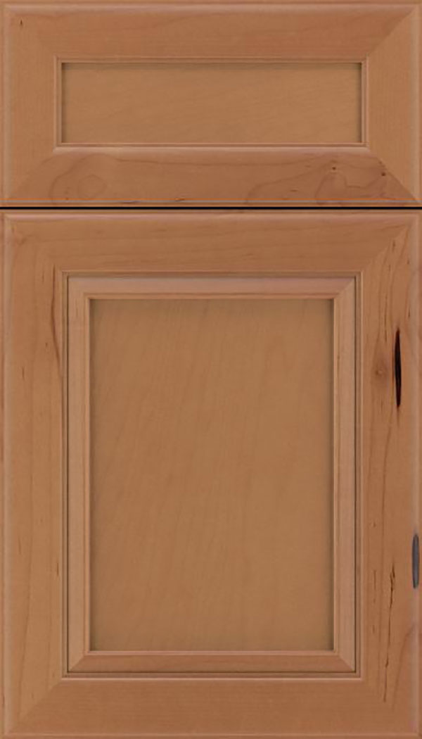 Paloma 5pc Maple flat panel cabinet door in Nutmeg