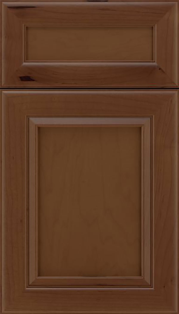 Paloma 5pc Maple flat panel cabinet door in Sienna