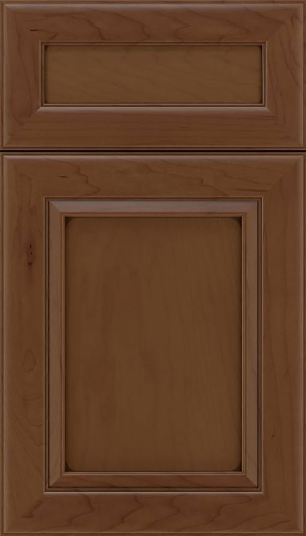 Paloma 5pc Maple flat panel cabinet door in Sienna with Mocha glaze