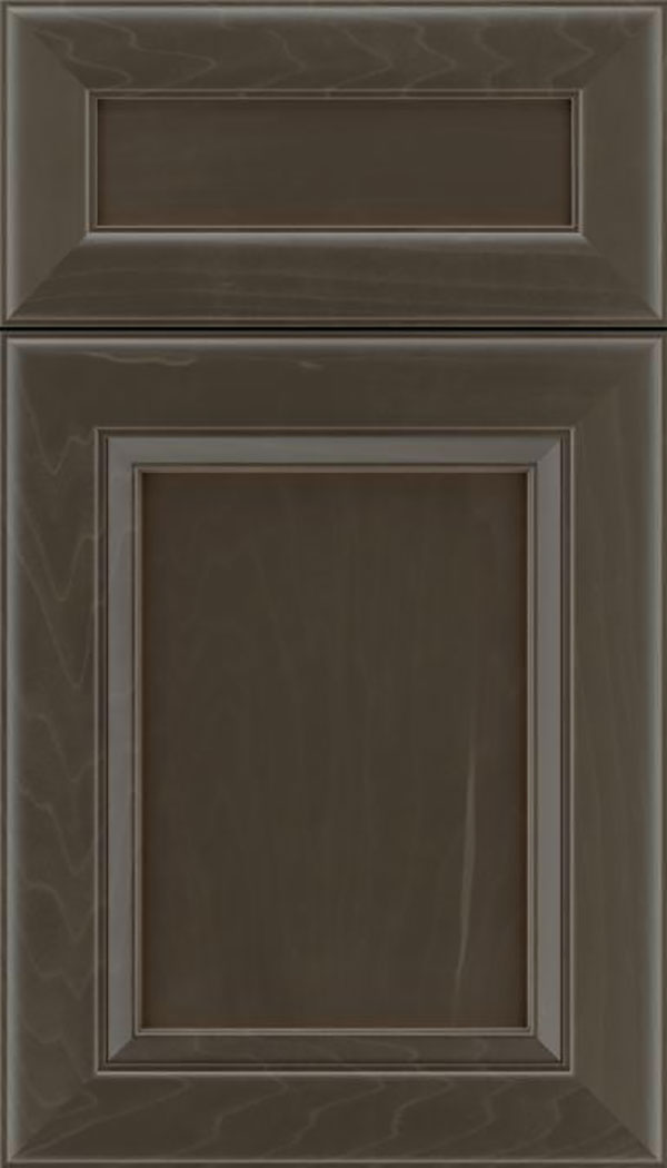 Paloma 5pc Maple flat panel cabinet door in Thunder