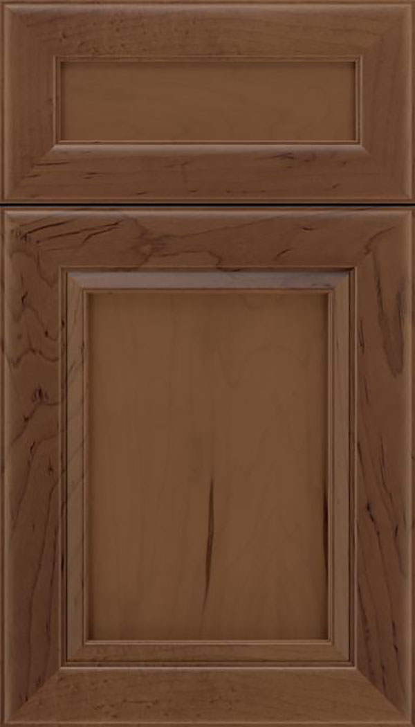 Paloma 5pc Maple flat panel cabinet door in Toffee