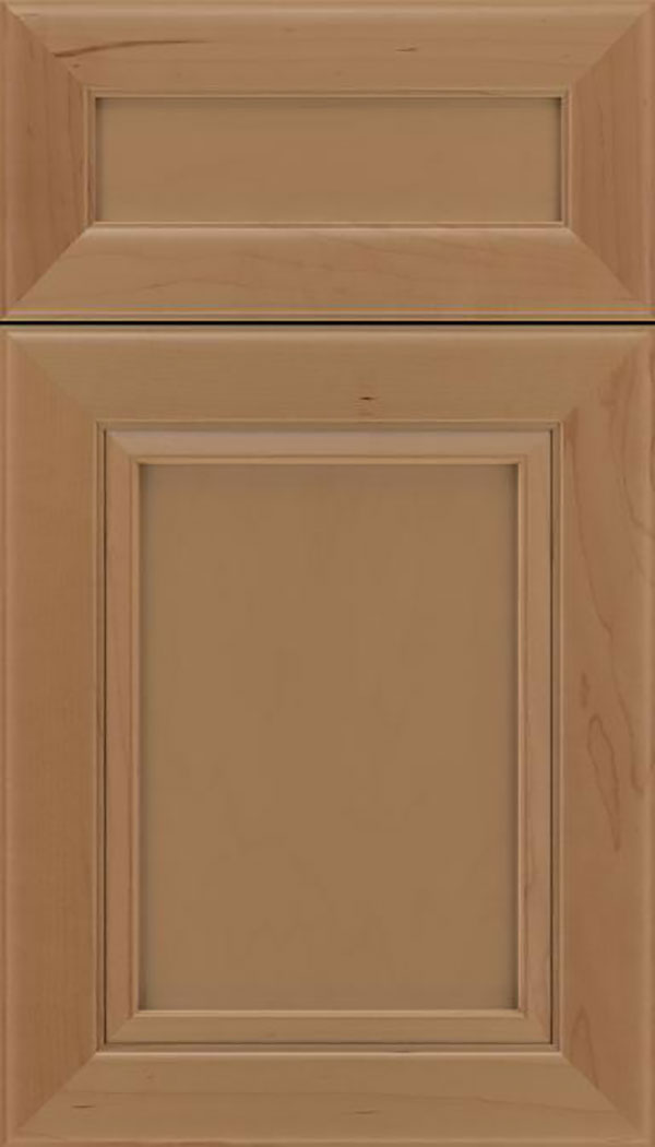 Paloma 5pc Maple flat panel cabinet door in Tuscan