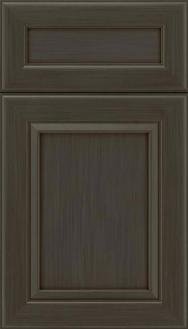 Paloma 5pc Maple flat panel cabinet door in Weathered Slate
