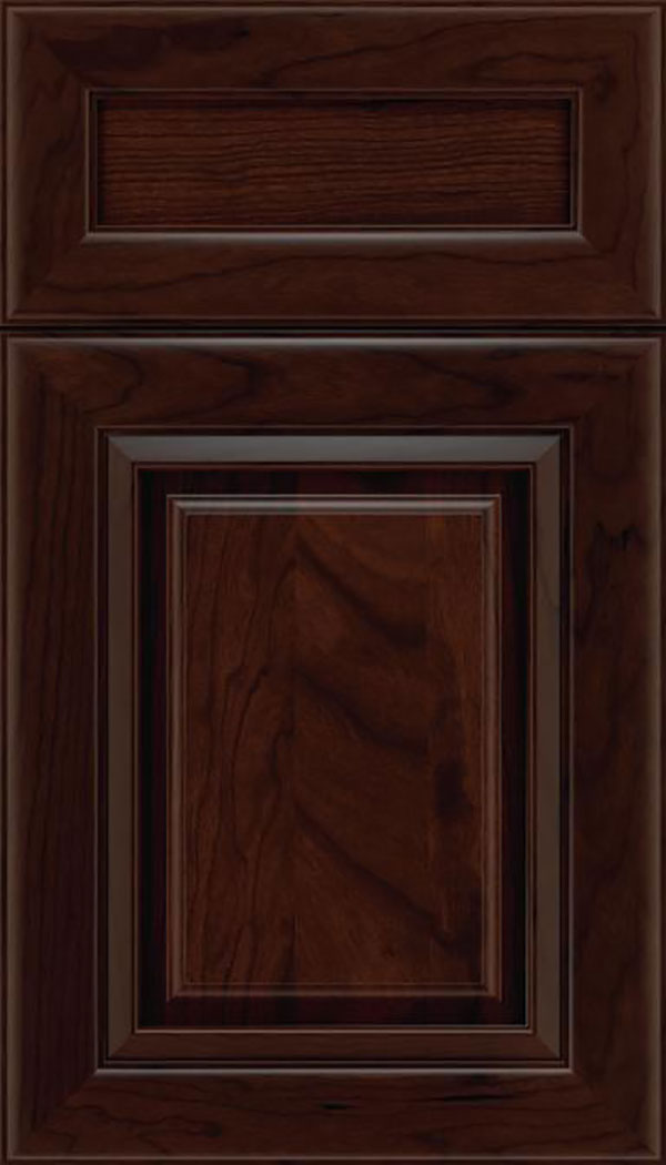 Paxson 5pc Cherry raised panel cabinet door in Cappuccino