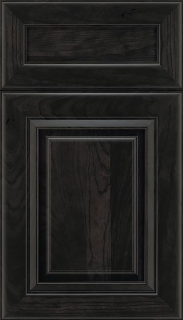 Paxson 5pc Cherry raised panel cabinet door in Charcoal