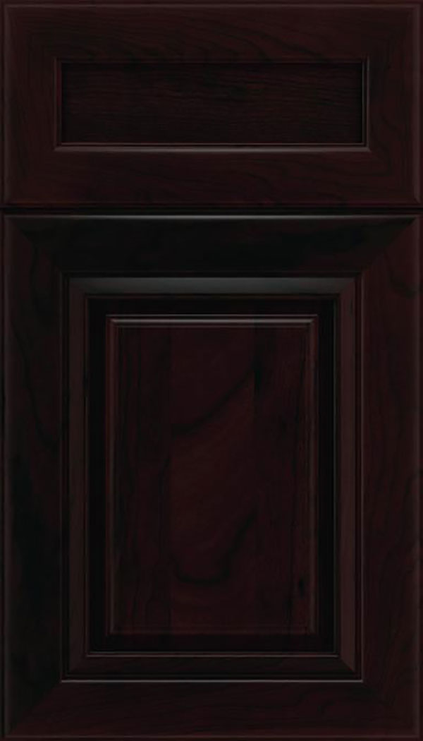 Paxson 5pc Cherry raised panel cabinet door in Espresso