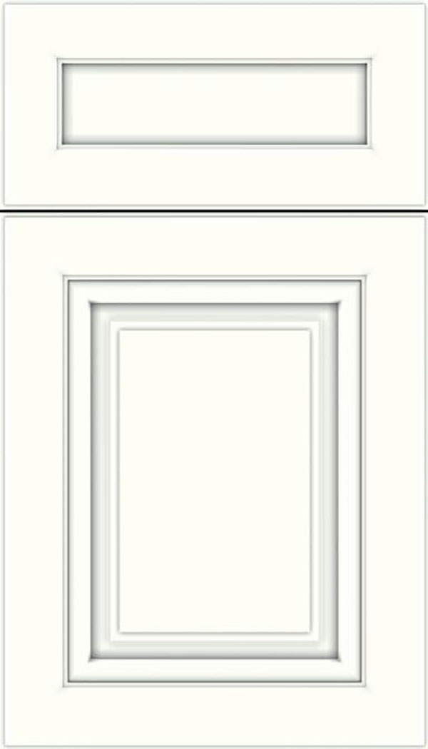 Paxson 5pc Maple raised panel cabinet door in Alabaster