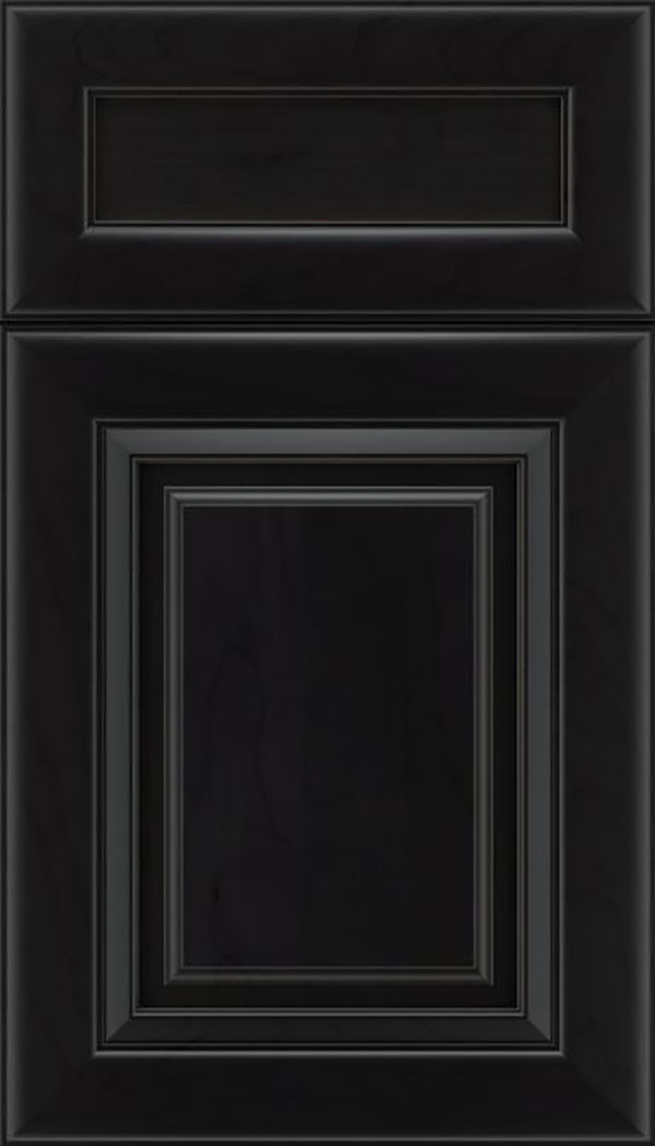 Paxson 5pc Maple raised panel cabinet door in Charcoal