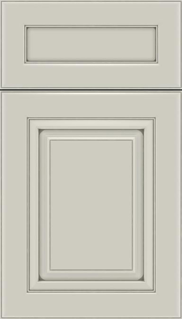 Paxson 5pc Maple raised panel cabinet door in Cirrus with Pewter glaze