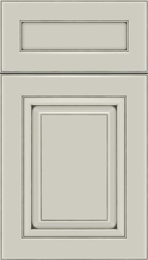 Paxson 5pc Maple raised panel cabinet door in Cirrus with Smoke glaze