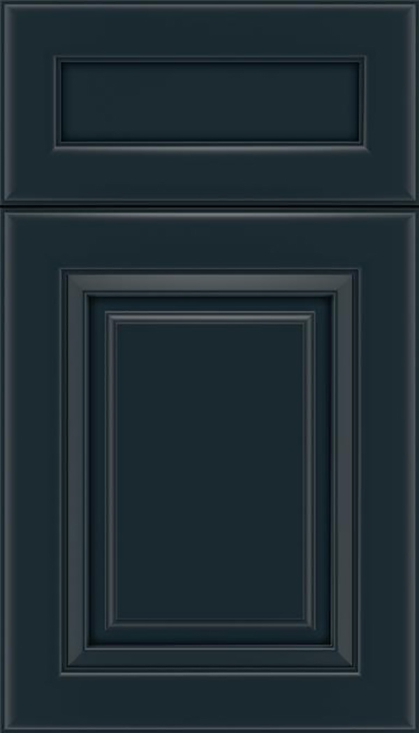 Paxson 5pc Maple raised panel cabinet door in Gunmetal Blue