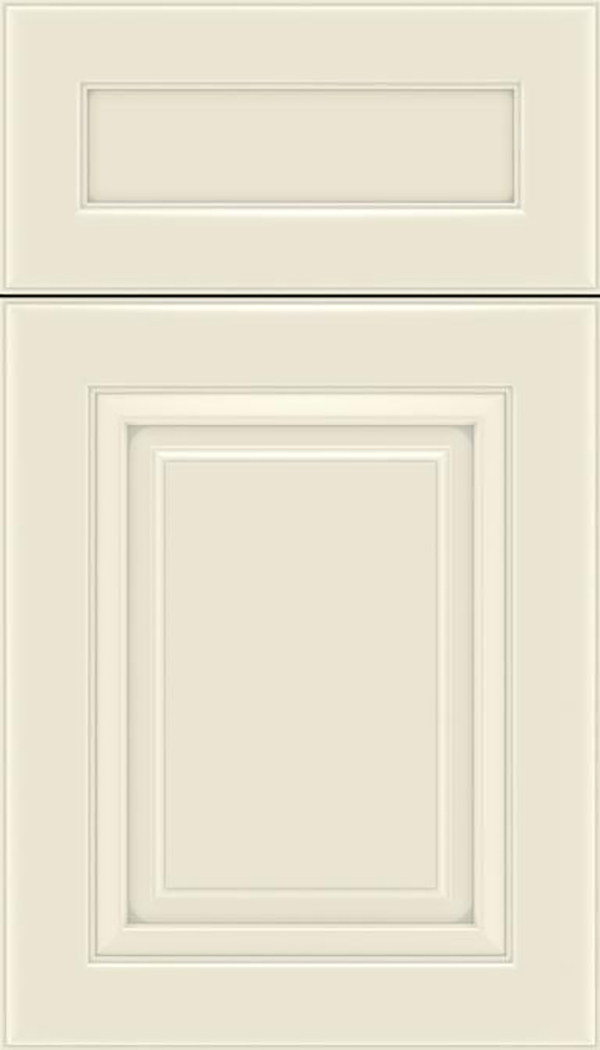 Paxson 5pc Maple raised panel cabinet door in Seashell with Pewter glaze