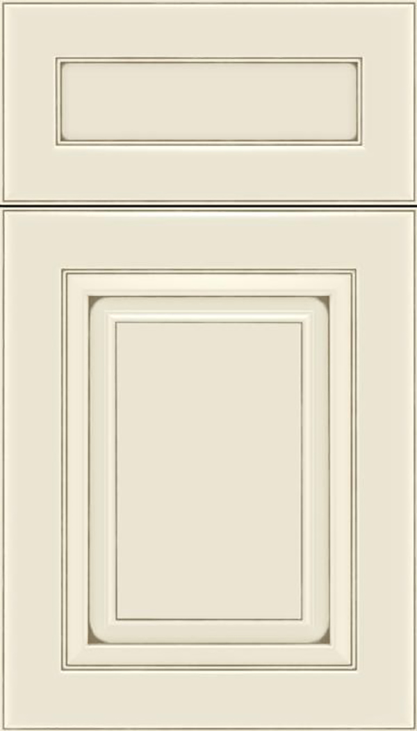 Paxson 5pc Maple raised panel cabinet door in Seashell with Smoke glaze