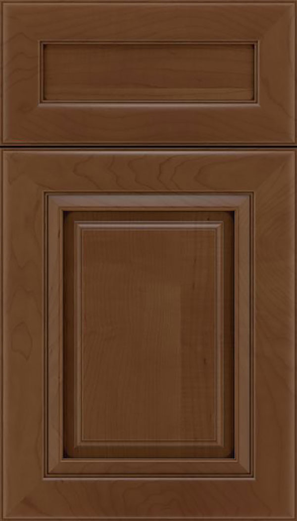 Paxson 5pc Maple raised panel cabinet door in Sienna with Mocha glaze