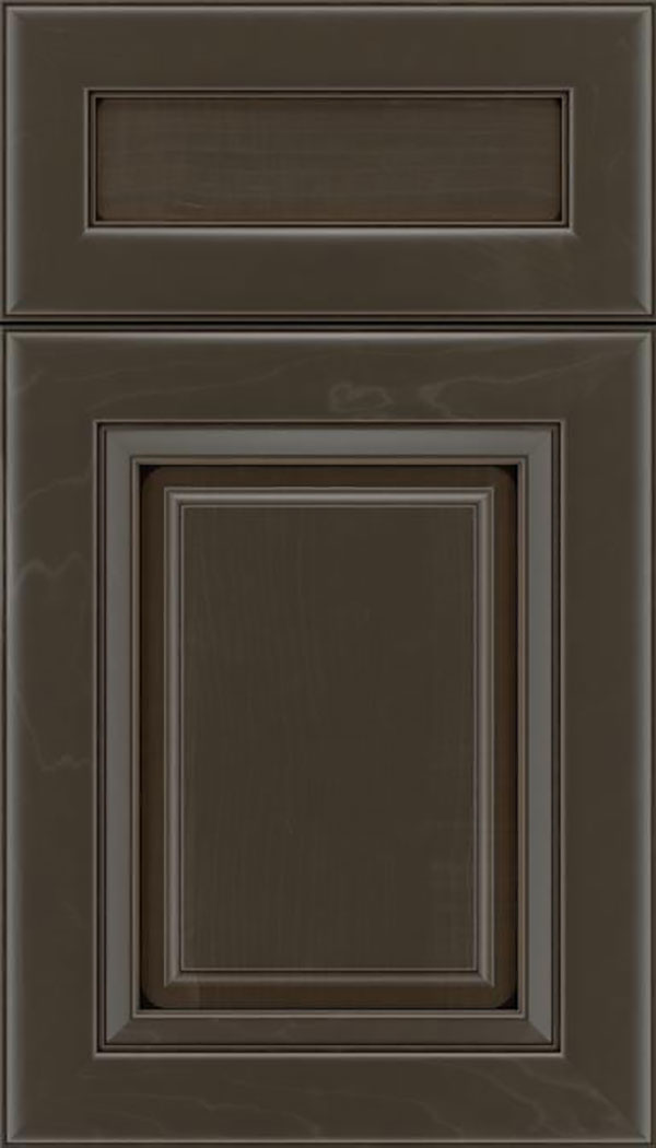 Paxson 5pc Maple raised panel cabinet door in Thunder with Black glaze