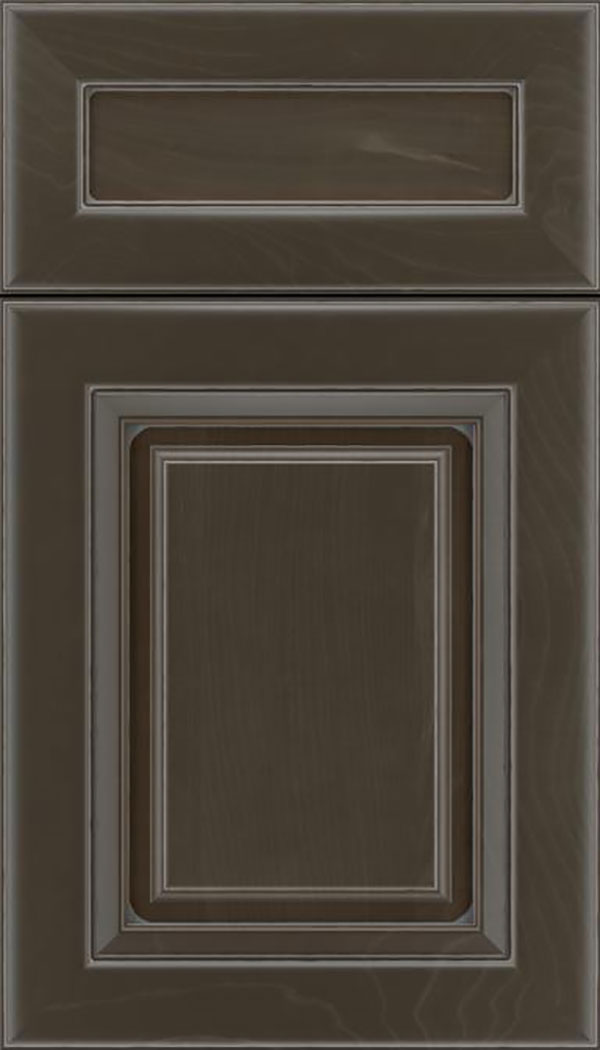 Paxson 5pc Maple raised panel cabinet door in Thunder with Pewter glaze