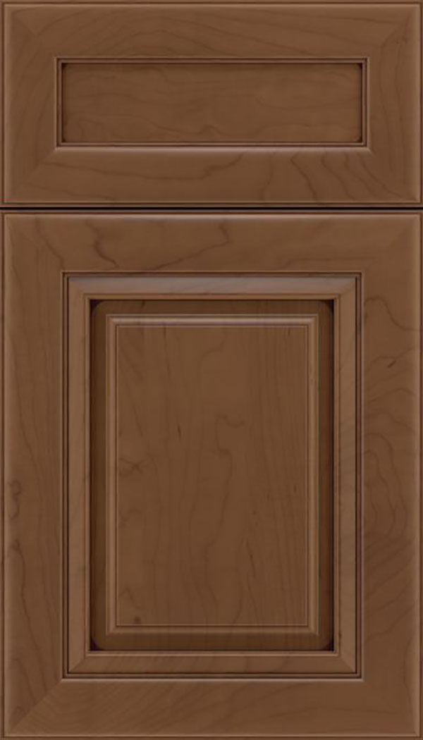 Paxson 5pc Maple raised panel cabinet door in Toffee with Mocha glaze