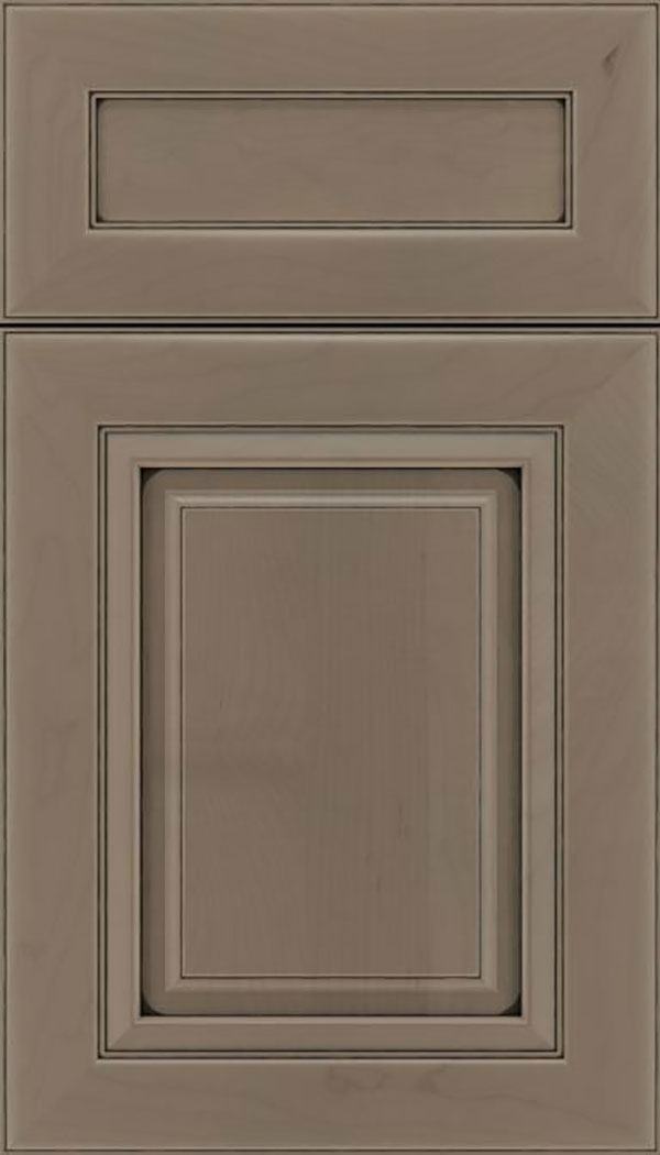 Paxson 5pc Maple raised panel cabinet door in Winter with Black glaze