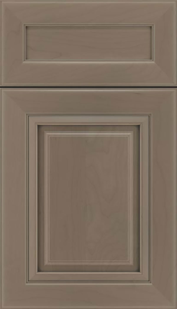 Paxson 5pc Maple raised panel cabinet door in Winter with Pewter glaze