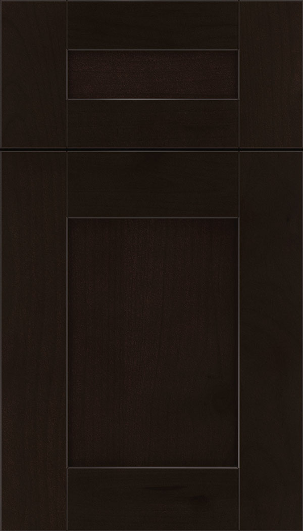 Pearson 5pc Alder flat panel cabinet door in Espresso