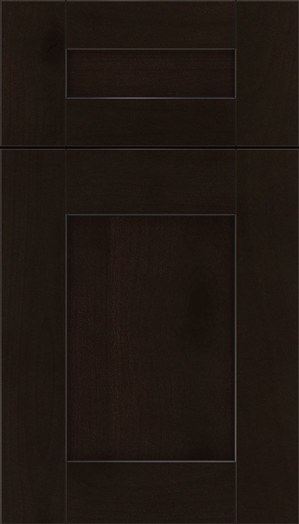 Pearson 5pc Alder flat panel cabinet door in Espresso with Black glaze
