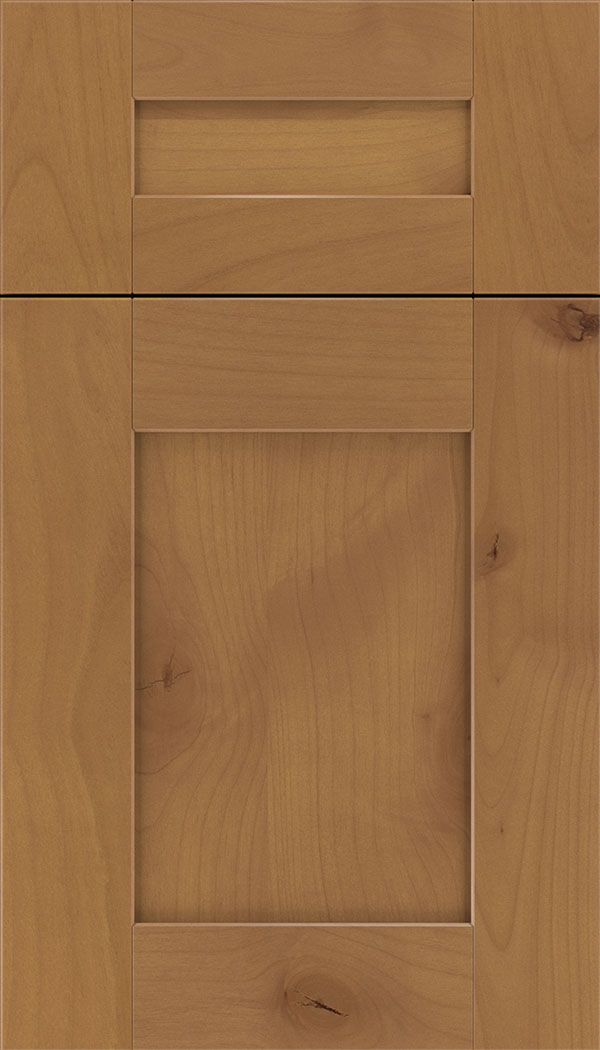Pearson 5pc Alder flat panel cabinet door in Ginger