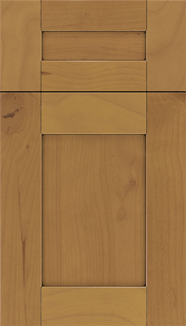Pearson 5pc Alder flat panel cabinet door in Ginger with Black glaze