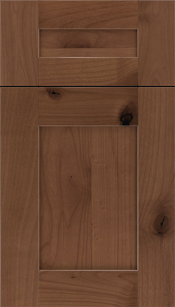 Pearson 5pc Alder flat panel cabinet door in Nutmeg