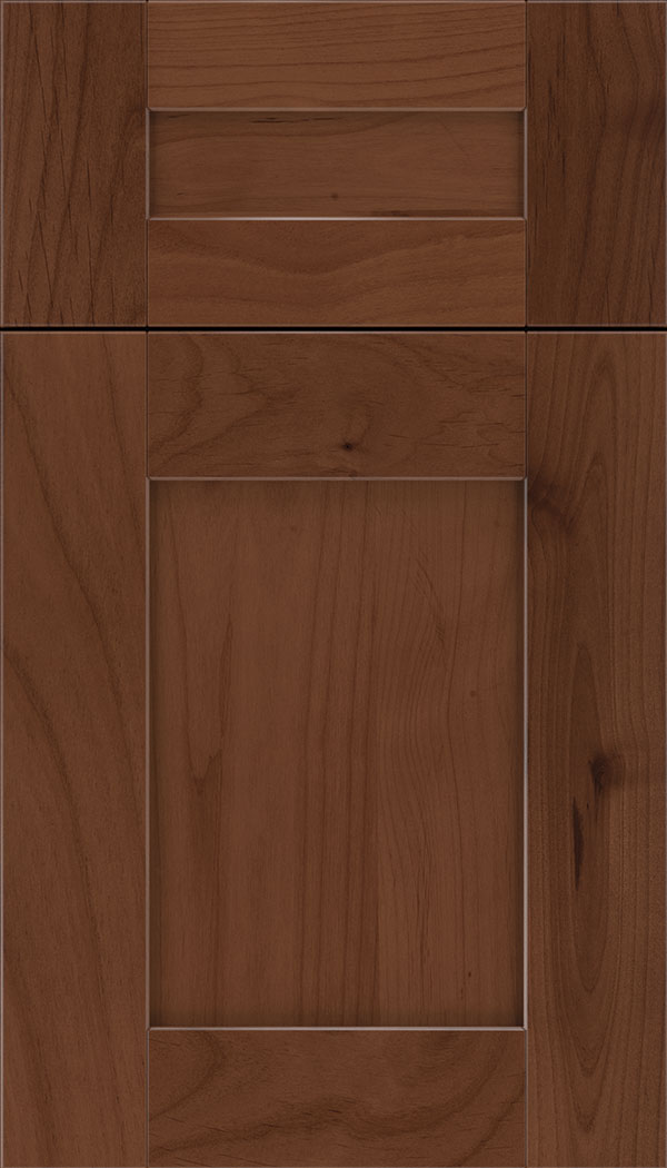 Pearson 5pc Alder flat panel cabinet door in Russet