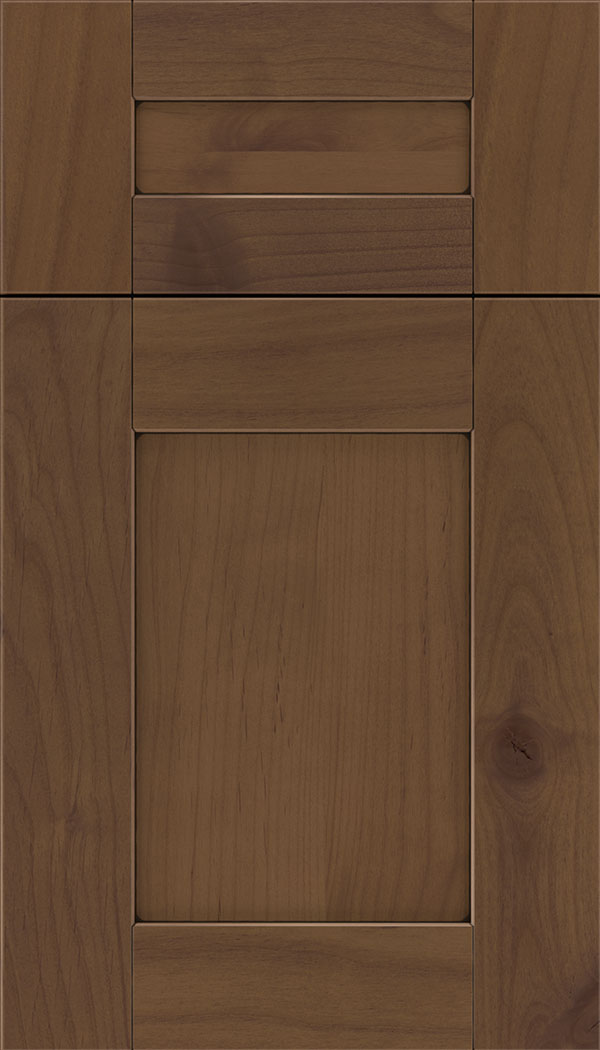 Pearson 5pc Alder flat panel cabinet door in Sienna with Black glaze