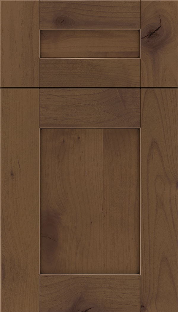 Pearson 5pc Alder flat panel cabinet door in Sienna with Mocha glaze