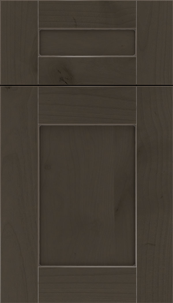 Pearson 5pc Alder flat panel cabinet door in Thunder with Pewter glaze