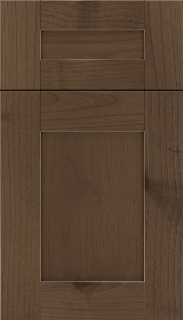 Pearson 5pc Alder flat panel cabinet door in Toffee with Mocha glaze