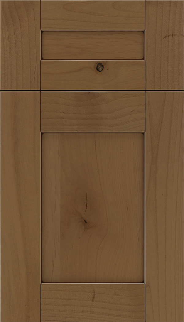 Pearson 5pc Alder flat panel cabinet door in Tuscan with Mocha glaze