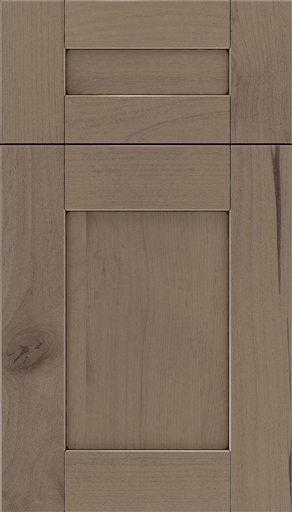 Pearson 5pc Alder flat panel cabinet door in Winter with Black glaze