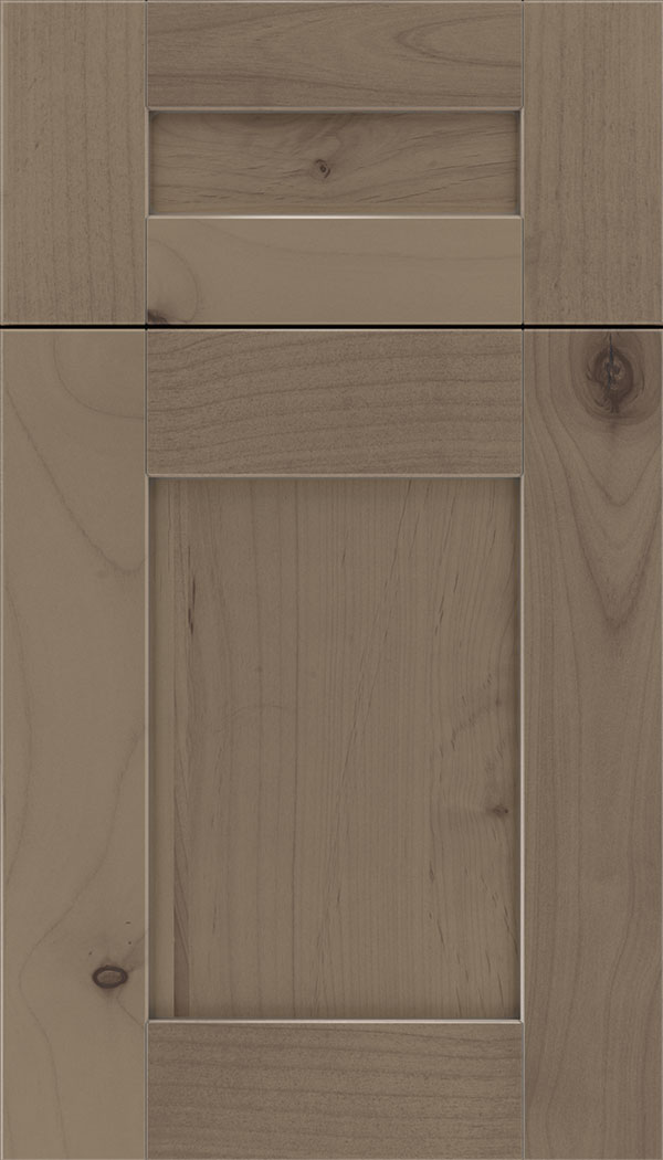 Pearson 5pc Alder flat panel cabinet door in Winter with Pewter glaze