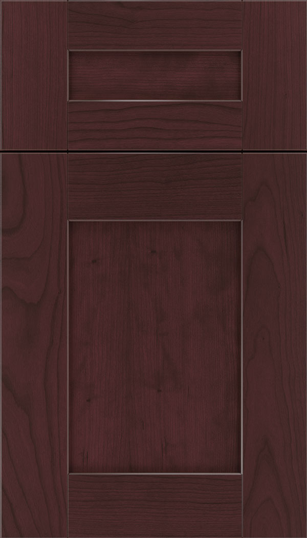 Pearson 5pc Cherry flat panel cabinet door in Bordeaux