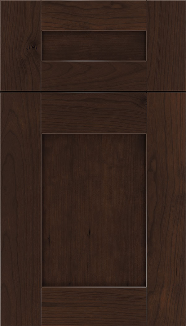 Pearson 5pc Cherry flat panel cabinet door in Cappuccino