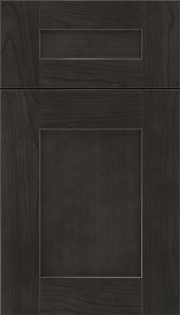 Pearson 5pc Cherry flat panel cabinet door in Charcoal
