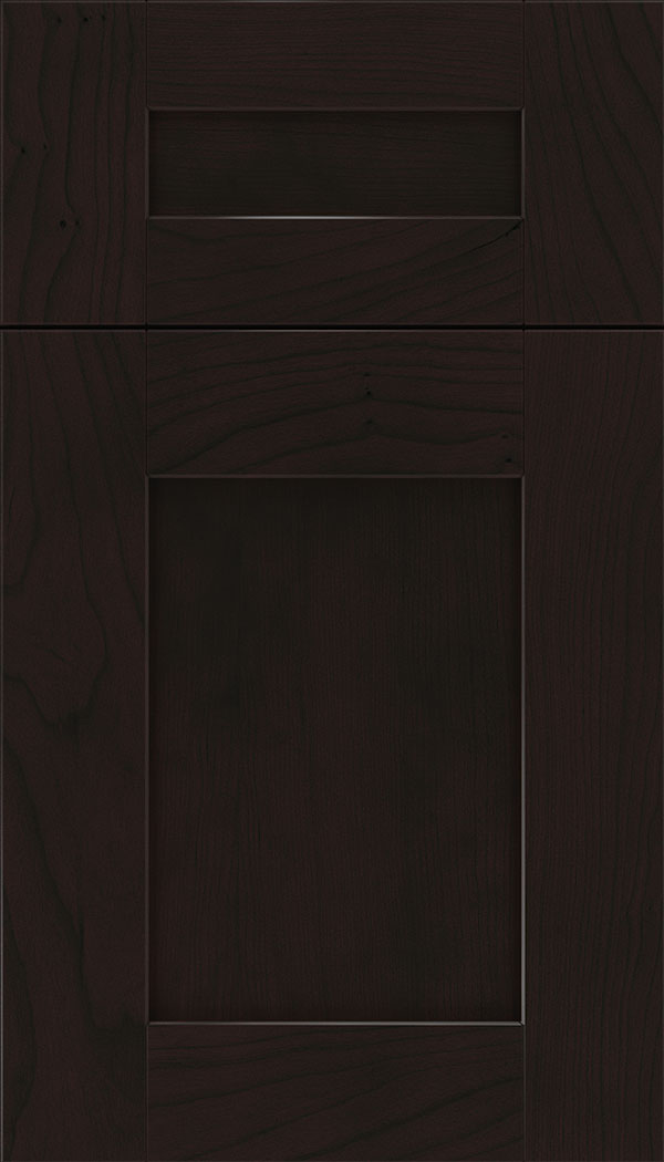 Pearson 5pc Cherry flat panel cabinet door in Espresso