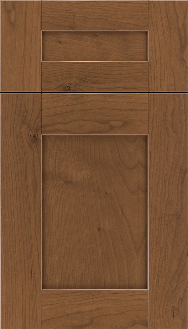 Pearson 5pc Cherry flat panel cabinet door in Nutmeg