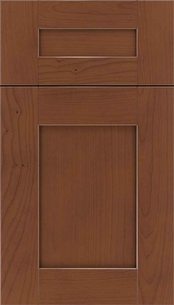 Pearson 5pc Cherry flat panel cabinet door in Russet