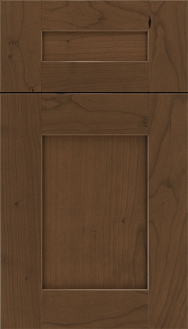 Pearson 5pc Cherry flat panel cabinet door in Sienna