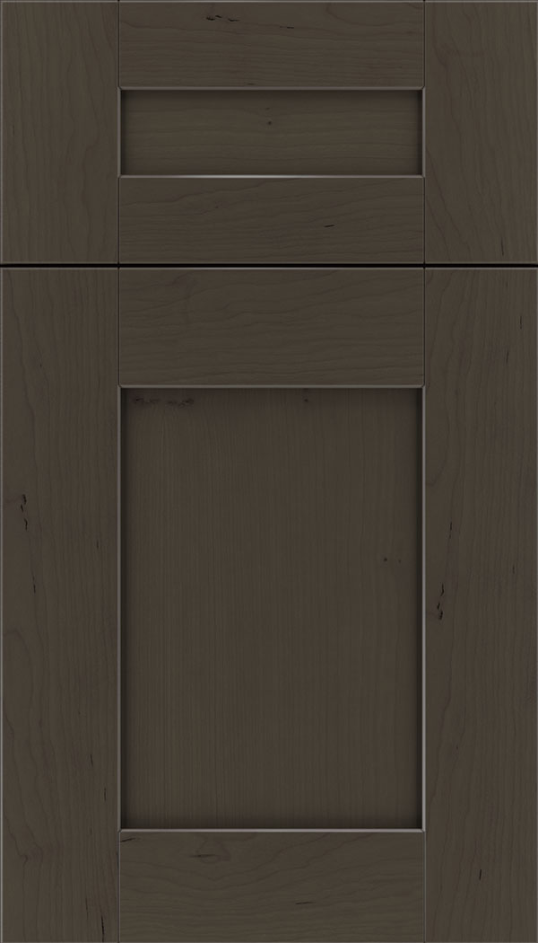 Pearson 5pc Cherry flat panel cabinet door in Thunder